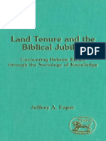 Jeffrey A. Fager Land Tenure and the Biblical Jubilee Jsot Supplement Series 1993.pdf