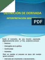Derivadas- Interpretación geométrica
