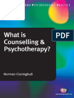 What is Counselling and Psychotherapy Claringbull