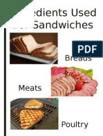 Summary Sandwiches