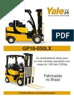 Folheto de Especificação GP050LX