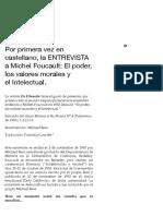 Por primera vez en castellano, la ENTREVISTA a Michel Foucault