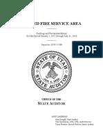 Unified Fire Service Area audit