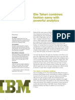 IBM Retail Case Study | Elie Tahari benefits from Real-Time Analytics