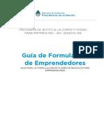 Guia de Formulacion Emprendedores 2016