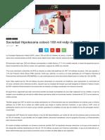 17/Enero/2017 Sociedad Hipotecaria Colocó 100 Mil Mdp Durante 2016