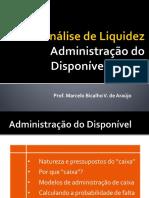 AULA 3 - Administração Do Disponível