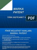 Marka; Patent
