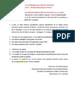 Tematica Şi Obligaţiile Pentru Didactica Domeniului