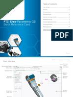 PTC Creo Parametric 3.0 Quick Reference Card