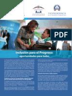 Boletín Inclusión Para el Progreso