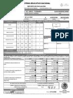 Reporte de Evaluacion Anverso(Frente) 3 A