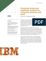 IBM Retail | Corporate Brand and Reputation Analysis (COBRA)