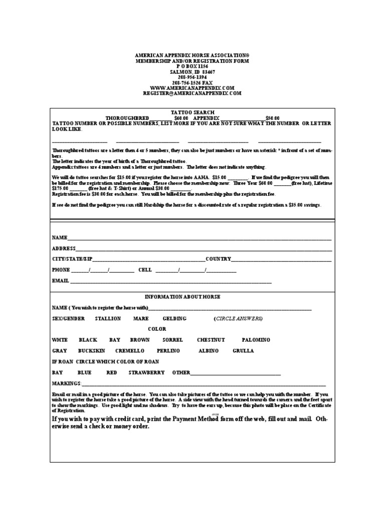 Tattoo Search Form | Credit Card | Money Order