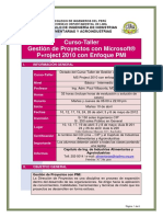 Gestion de Proyectos MS Project