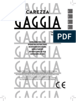 Gaggia Carezza Deluxe User Manual