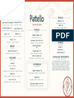 Piattello dinner menu