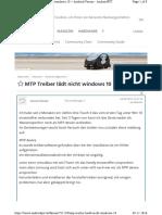 MTP Treiber Lädt Nicht Windows 10