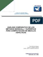 Análisis Comparativo de Los Métodos Marshall y Superpave Para Compactación de Mezclas Asfálticas