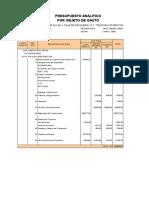 Presupuesto Analitico Definitivo