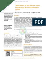 SanjeevSrivastava Et Al Applications in DentistryAbstract