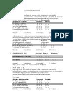 Cálculo Para La Dotación de Servicios