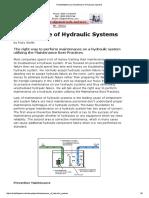 ReliabilityWeb Hidraulic Systems