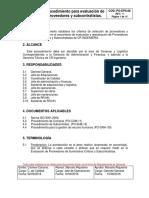 PO-EPS-08 Seleccion y Evaluacion de Proveedores