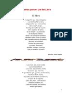 Poemas Para El Día Del Libro