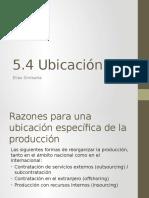 Ubicación de La Producción