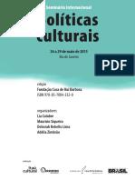 Anais Do VI Seminário Internacional de Políticas Culturais