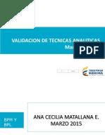 Validacion de Tecnicas Analiticas Invima