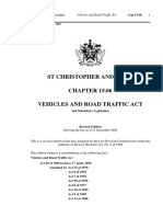 ST Kitts Traffic Act