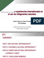 Seminario sobre experiencias internationales en el uso de refrigerantes naturales