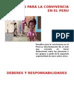 Desafíos Para La Convivencia en El Peru