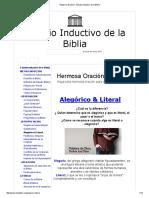Alegórico & Literal - Estudio Inductivo de La Biblia