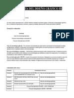 Forma de Evaluación METODOLOGÍA DEL DISEÑO GRÁFICO III