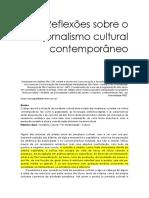 Reflexões Sobre o Jornalismo Cultural Contemporâneo
