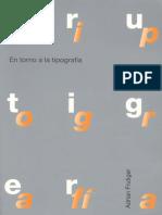 Frutiger, Adrian - Diseño en Torno a La Tipografia