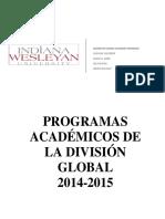 Programas Académicos IWU 2014 2015 Rev. Nov 2014