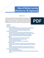 Rules of Machine Learning