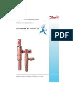 Reguladores de presión KV. DANFOSS . RZ0ZF205