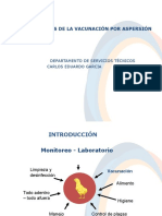 Consideraciones de La Vacunacion Por Aspersion
