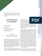 La Pachamama y El Humano