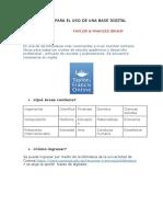 Manual Para El Uso de Una Base Digital