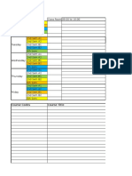 Time Table Format