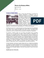 A Tortura e Os Mortos Na Ditadura Militar