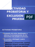 Exclusion de Prueba s