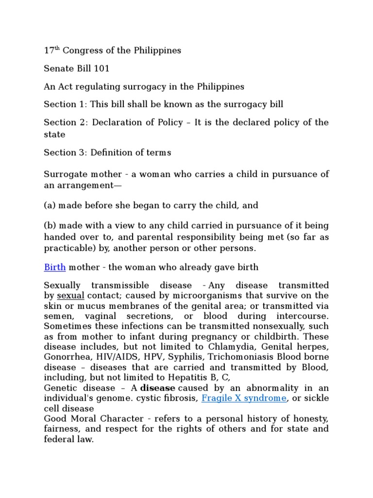 17th congress of the philippines (1) | surrogacy | sexual intercourse
