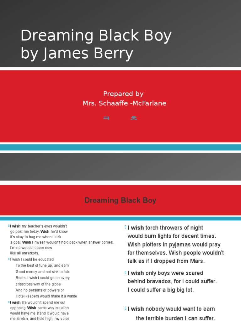 dreaming black boy by james berry